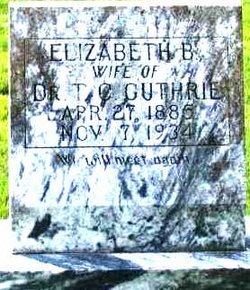 Elizabeth B <i>Davis</i> Guthrie
