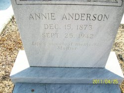 Annie Hannie <i>Stanfield</i> Anderson