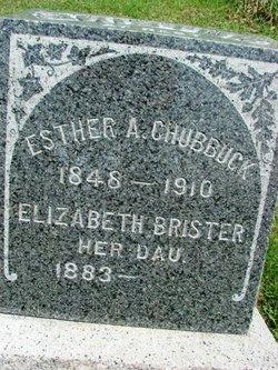 Esther A <i>Westler</i> Chubbuck