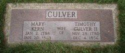 Mary Polly <i>Kern</i> Culver