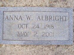 Anna W Albright