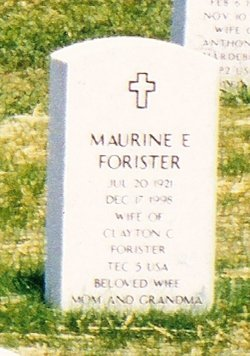 Maurine E Forister