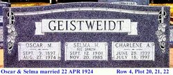 Selma Hulda <i>Spaeth</i> Geistweidt