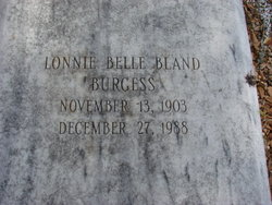 Lonnie Belle <i>Bland</i> Burgess