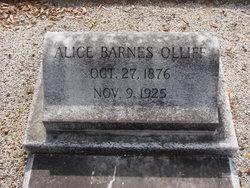 Alice <i>Barnes</i> Olliff