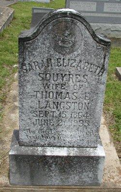 Sarah Elizabeth <i>Squyres</i> Langston