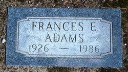 Frances E <i>Love</i> Adams