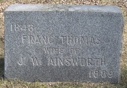 Franc <i>Thomas</i> Ainsworth