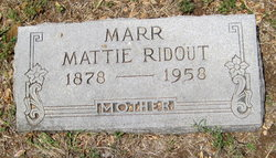 Martha Pearl Mattie <i>Ridout</i> Marr