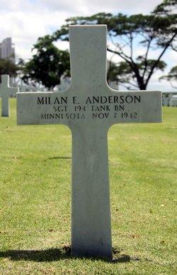 Sgt Milan E Anderson