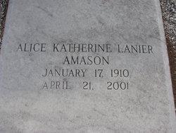 Alice Katherine <i>Lanier</i> Amason