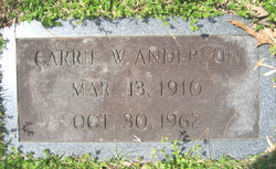 Carrie Sarah <i>Wiles</i> Anderson