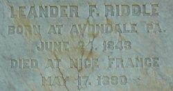 Leander F. Riddle