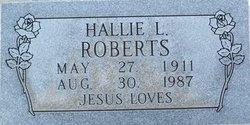 Hallie L <i>Willingham</i> Roberts