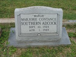 Marjorie Constance Margie <i>Southern</i> Adcock