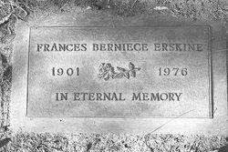 Frances Berniece Bee <i>Hartley</i> Erskine