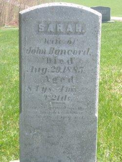 Sarah <i>Poorbaugh</i> Bancord
