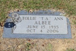 Tollie Ann T.A. Albee