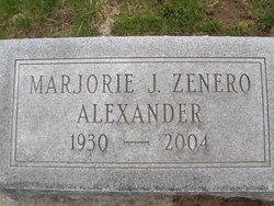 Marjorie J <i>Zenero</i> Alexander