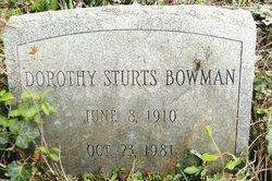 Dorothy <i>Sturts</i> Bowman