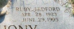 Ruby <i>Ledford</i> Anthony