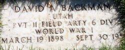 David Alfred Backman