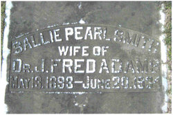 Sallie Pearl <i>Smith</i> Adams