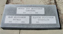 Myrtle Anetta Ann <i>Montgomery</i> Carothers