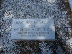 Mary Juanita <i>Parrish</i> Rolls