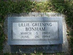 Lillie <i>Greening</i> Bonham