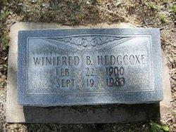 Winifred B <i>Bonham</i> Hedgcoxe