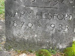 Mary <i>Wade</i> Hesford