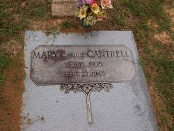 Mary Ellen Mollie <i>Everritt</i> Cantrell