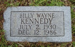 Billy Wayne Kennedy (1930 - 1986) - Find A Grave Memorial