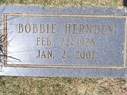 Lillie Lee Bobbie <i>Yancey</i> Hernden