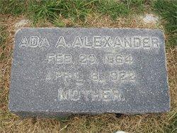 Ada Agnes <i>Evans</i> Alexander