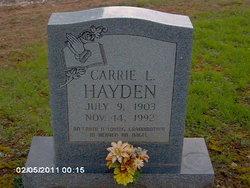 Carrie L Hayden