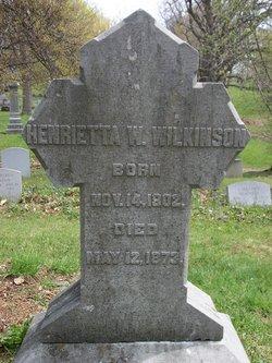 Henrietta Wilhelmina <i>Swartz</i> Wilkinson