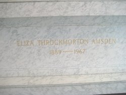 Eliza <i>Throckmorton</i> Amsden