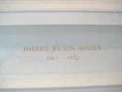 Harriet Melvina <i>Wilson</i> Amsden