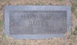 Mary <i>Alley</i> Brown