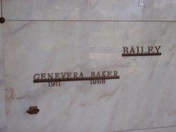 Genevera A <i>Graves</i> Bailey Baker