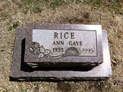 Anne <i>Gaye</i> Rice