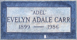 Evelyn Adale Adel <i>Hicks</i> Carr