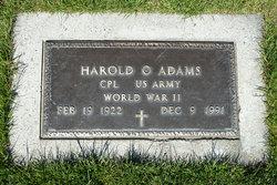 Harold O Adams