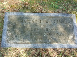 Margaret W <i>Hill</i> Black
