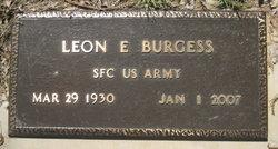 Leon E Burgess