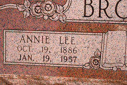 Anna (Annie) Lee <i>Leatherwood</i> Brown