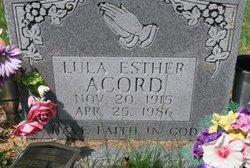 Lula Esther <i>Bailey</i> Acord