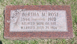 Bertha Charlotte Mae <i>Becker</i> Rose